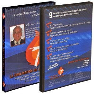 Coffret de 5 DVD + 1 CD MP3* (NTSC – Canada)       avec 9 heures d'enseignements spirituels de Léandre Lachance