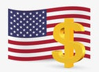 flag usa currency