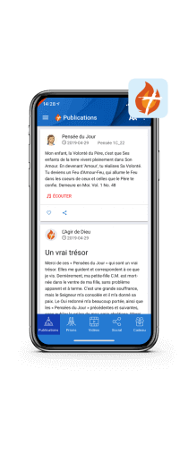 Application des Choisis de Jésus